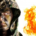 heat proof camouflage face paint