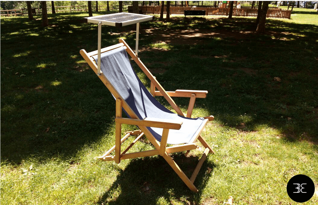 Solar Deckchair with Phone Charger Created by User Entrepreneurs